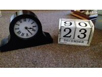 Clock and shabby chic calander