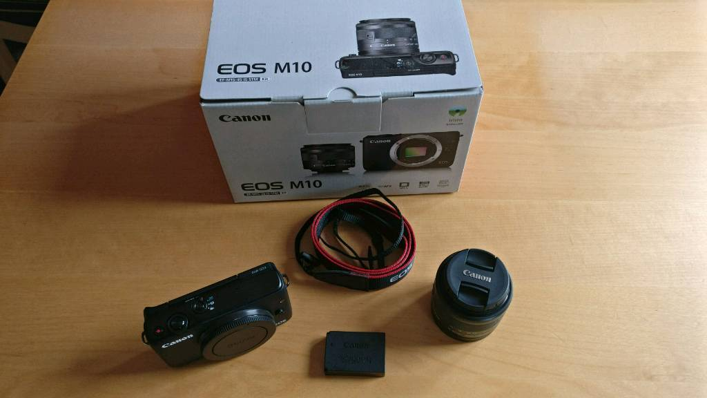 Canon EOS M10 with lens