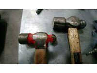 Set of ballpein hammers