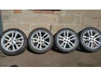 Vauxhall Genuine 17 alloy wheels +4 x tyres 215 45 17