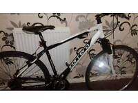 Carrera black/white montain bike very good condition £100 ONO
