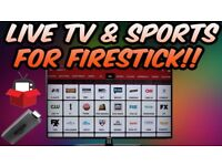 Amazon Firestick with Live TV ✔ and On Demand TV SHOWS ✔ AND Movies ✔