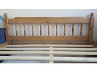 Colonial Bed Frame - King (5') - Waxed pine - looking for a quick sale
