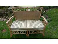 Wicker Chairs and Bench