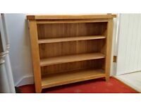 Solid Light Oak Bookcase, with two shelves