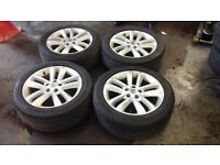 Vauxhall 17 inch sri alloy wheels with tyres