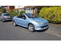 PEUGEOT 206 CC ALLURE CONVERTIBLE 1.6*206cc 64020 mls FULL SERVICE HISTORY FROM PEUGEOT 9 STAMPS