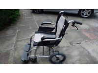 Wheelchair- collapsable- very light and fits into a car. Hardly used