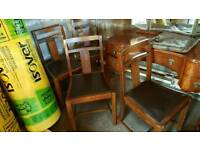 4 VINTAGE WOODEN CHAIRS