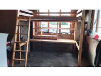 double wooden bunkbed