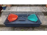 Used large indoor guinea pig / rabbit cage .size w 100 cm d 50 cm h 40 cm in good condition £20