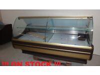 NEW £1437 + VAT 180cm (5.9 feet) Serve Over Counter Display Fridge WEGA on STOCK