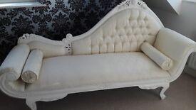 Antique White Chaise Longue Sofa