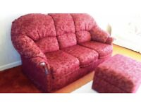 Gorgeous clean sofa footstool and spare roll material