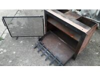 Cast Iron fire place box with fire guard