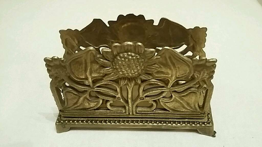 ornamental brass envelope