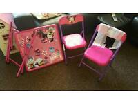 Minnie mouse table and chairs brand new