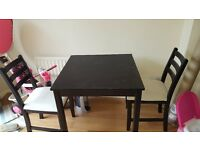 Black table for 2 and chairs