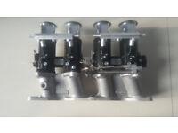 45 DCOE style complete throttle body setup zetec weber jenvey mk1 mk2 escort rs2000 westfield locost