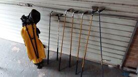 Boys Left hand golf clubs.