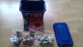 Box of K'nex with 50 building ideas booklet still in packaging