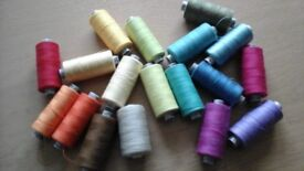 18 spools of gutermann thread various colours as shown 100%polyester