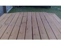Eight 1.8 metre wood panels