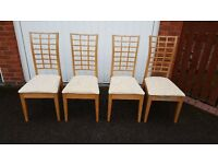 4 Dining Table Chairs FREE DELIVERY (02845)