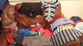Boys clothes 4-5 year olds inc Ralph Lauren Polo top and spiderman socks