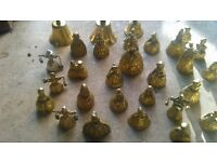 Vintage brass lady bells - job lot (30+) and 3 hand bells