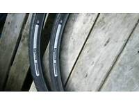 Specialised Nimbus 700/35c Road tyres and tubes.
