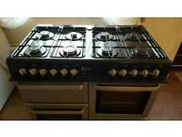 Flavel 8 hob dual fuel range cooker