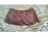 Ladies brown summer shorts clothes fashion