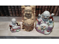Collection Of Three Buddhas . Nice group who have been together over 30 years
