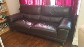 HIGH QUALITY Brown Leather Sofa *GREAT CONDITION*