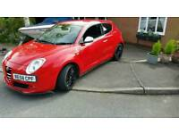 Alfa Romeo Mito Cloverleaf spec 1.4 turbo 155 bhp audi a3 golf gti rr mini cooper s civic type r