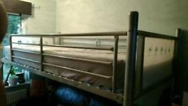 Kids/teenagers sky bed with mattress + extras