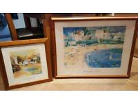 Two pictures in excellent condition and framed.