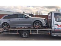 24/7 vehicle recovery service. UK/outside the Uk
