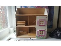 Doll's house without front, free to collect- use as potential display unit
