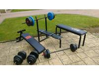 York Weight bench and 100kg weights