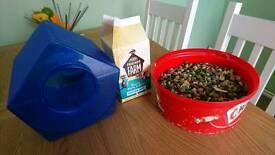 Chinchilla food and sand