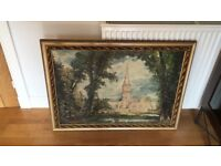John Constable cathedral painting/antique frame included