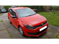 Well looked after bright red 2011 VW Polo