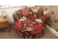 Swivel chair - 2 seater. DFS hardly used.