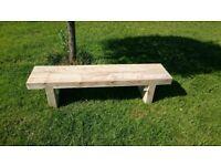 Double railway sleeper bench seat Summer Furniture Set brand new Loughview JoineryLTD