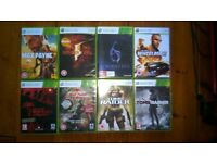 8 Xbox 360 Games, all in very good condition and fully functional
