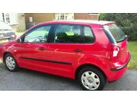 VW POLO RED 1.2 O2 REG GOOD RUNNER AND WELL LOOKED AFTER