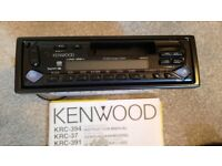 Kenwood KRC-394 AM/FM Radio and Cassette Tape Player