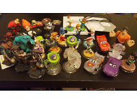 Large collection of Disney Infinity including 3 rare crystal characters WII